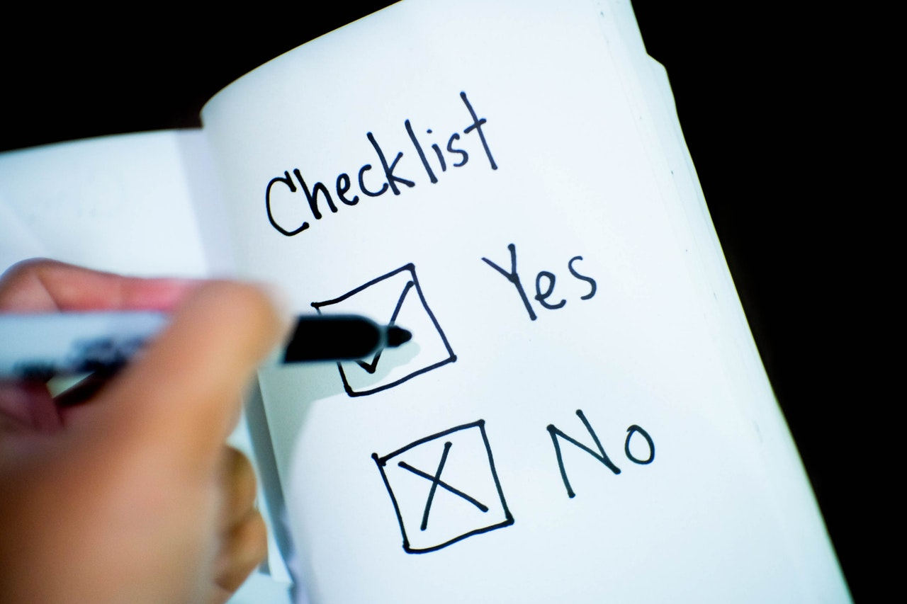 checklist of dream home wants and needs