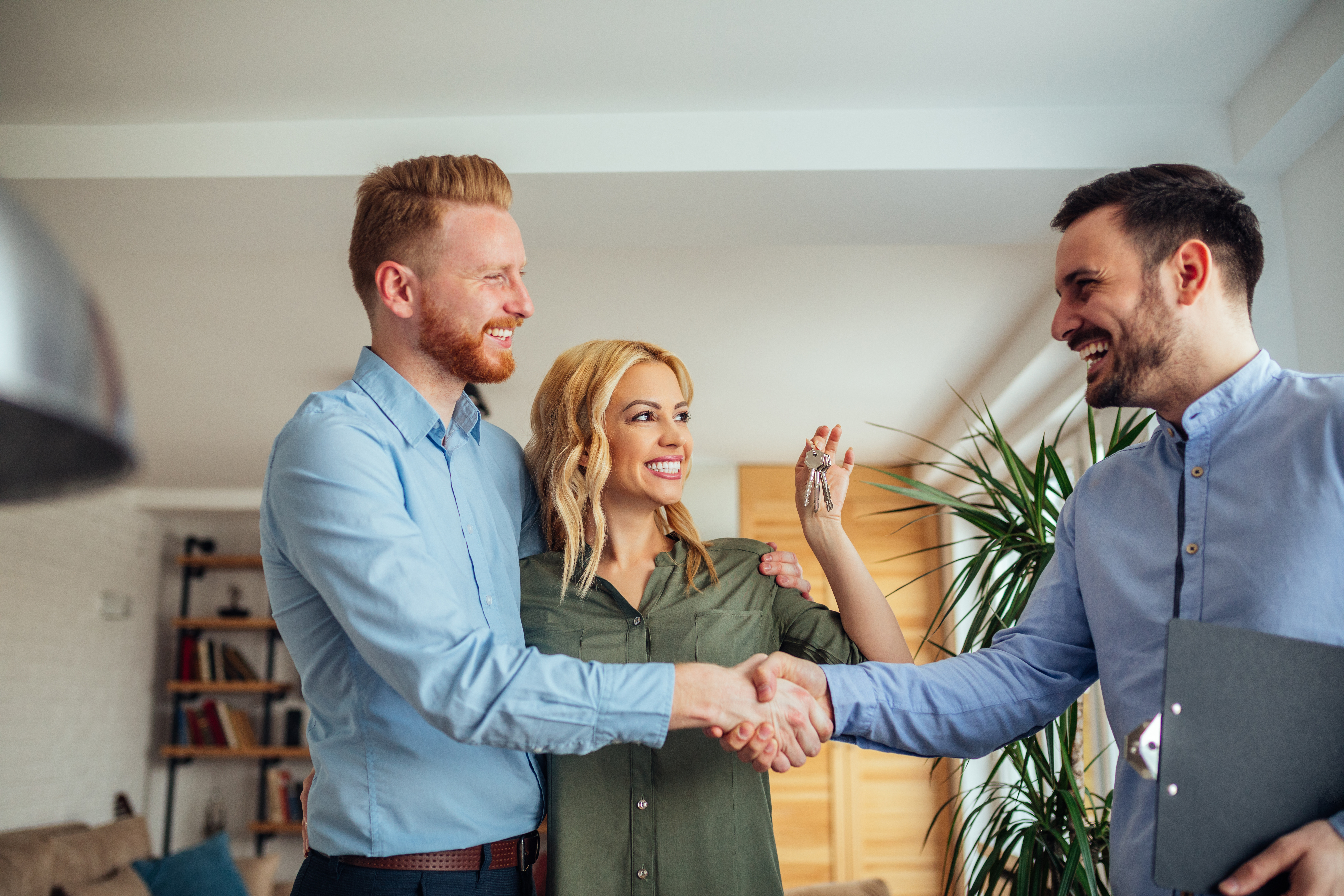 Real estate agent helping client find their dream home